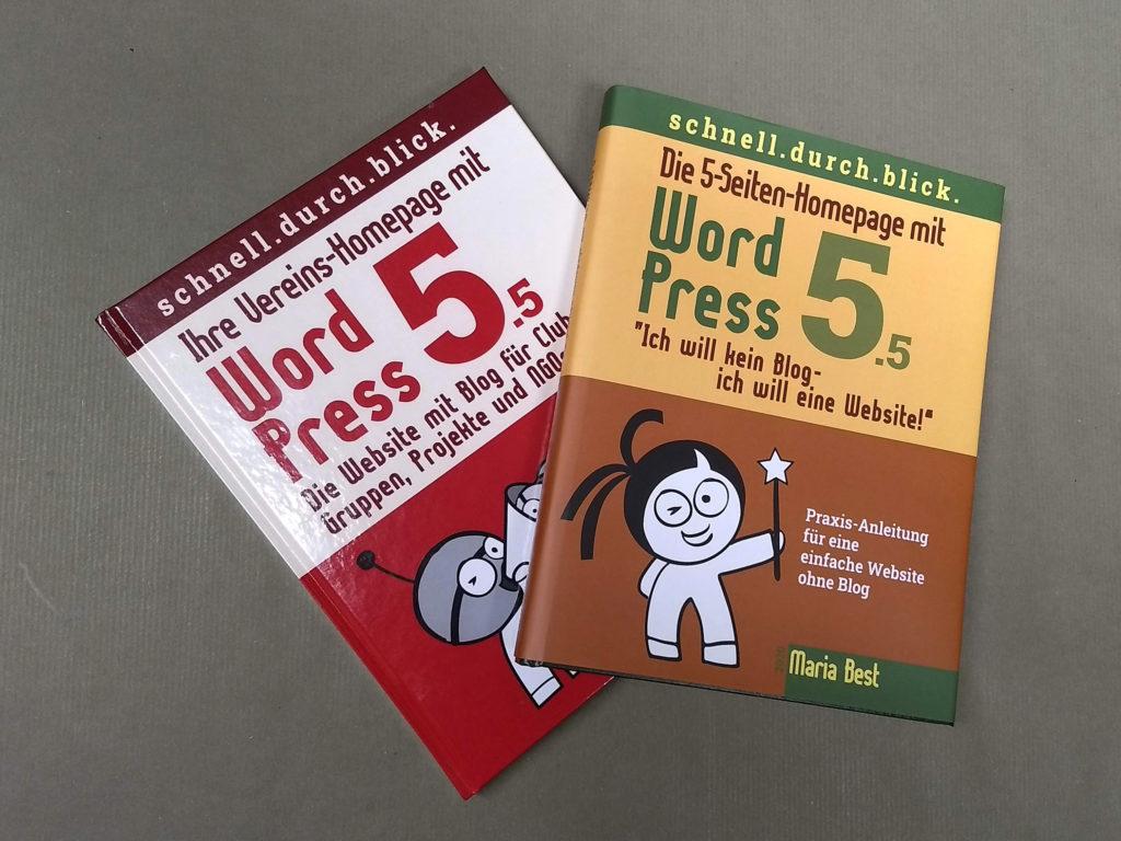 WordPressbücher als Hardcover Ausgabe