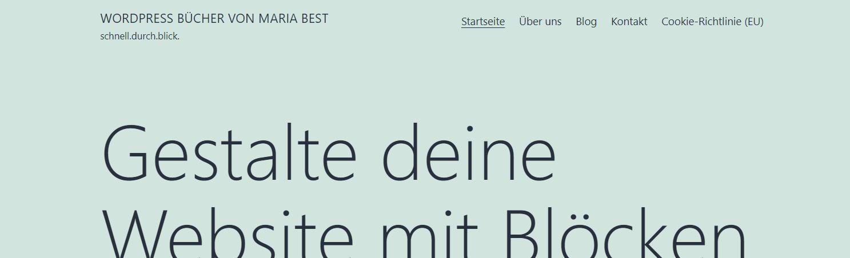 2021 WordPress Standard Theme Schrifttype